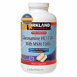 Thuốc Bổ Xương Khớp Glucosamine Kirkland Mỹ 375 Viên