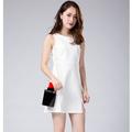 Hàng nhập_ Đầm trắng xẻ tà thời trang_D20