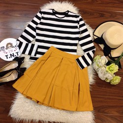 Set bộ áo sọc + Chân váy cực xinh