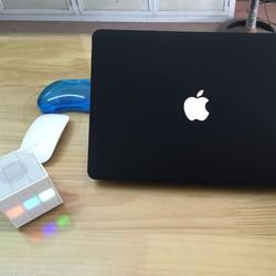 Case bảo vệ cho Macbook nhiều màu 13.3 Air Đen