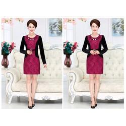 Đầm ôm ren nhung DM225 size M - 4XL HÀNG NHẬP ĐÀI LOAN
