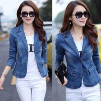 Áo khoác vest Jean nữ cao cấp