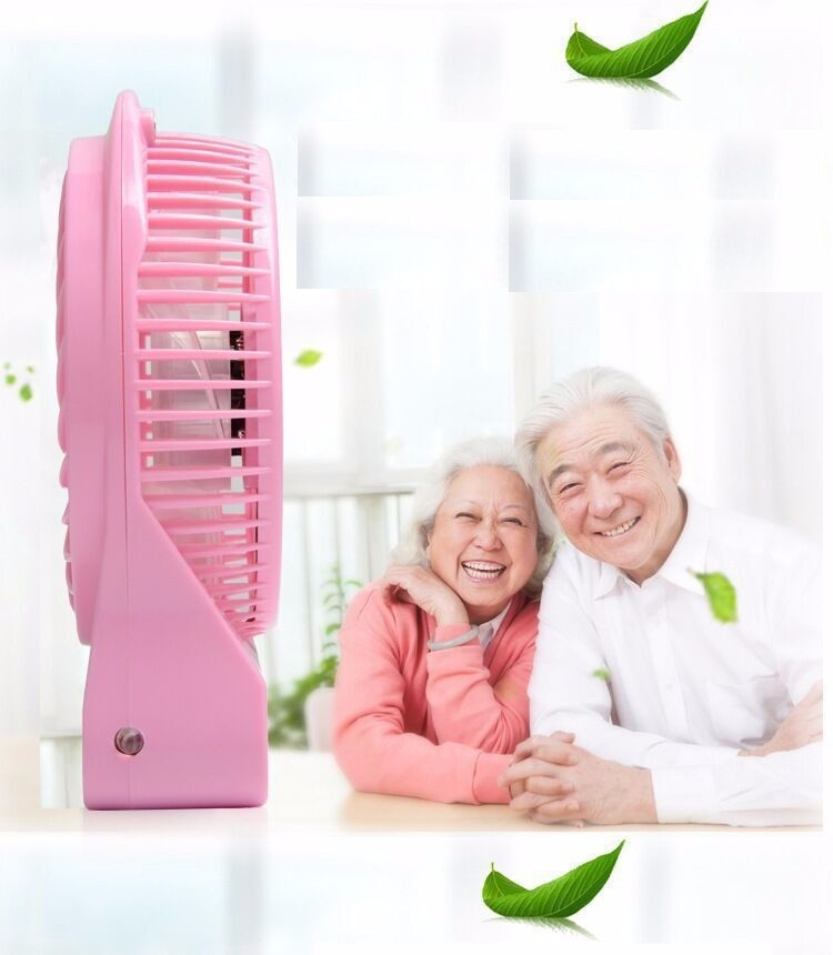 Quạt hoa tuyết 3 cấp độ pin sạc mini fan Phụ kiện cho bạn Trắng 10