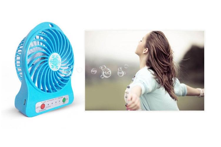 Quạt hoa tuyết 3 cấp độ pin sạc mini fan Phụ kiện cho bạn Trắng 20