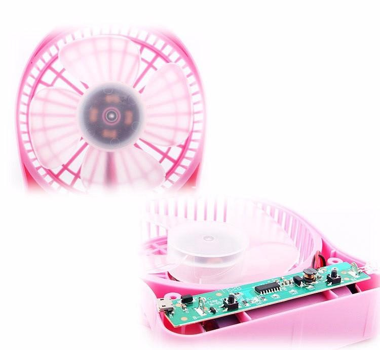 Quạt hoa tuyết 3 cấp độ pin sạc mini fan Phụ kiện cho bạn Trắng 14
