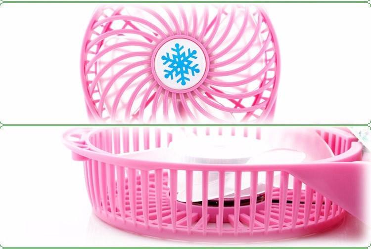 Quạt hoa tuyết 3 cấp độ pin sạc mini fan Phụ kiện cho bạn Trắng 16