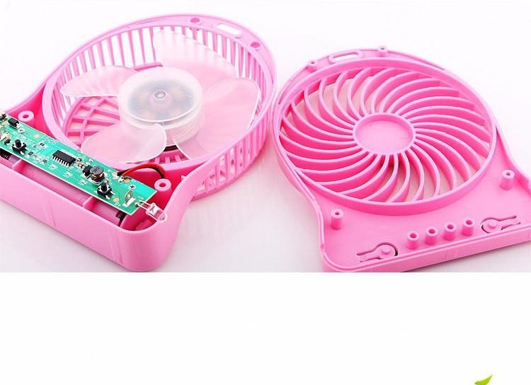 Quạt hoa tuyết 3 cấp độ pin sạc mini fan Phụ kiện cho bạn Trắng 13