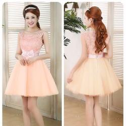 Đầm xòe công chúa hồng