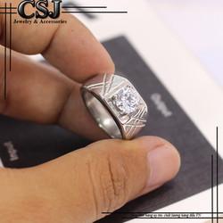 Nhẫn inox nam đẹp cao cấp giá rẻ nhất HCM - mẫu N525