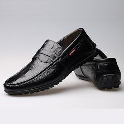 Giày lười nam da bò cao cấp, vân cá sấu sang trọng, mẫu mới ZS045