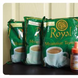 Bộ sản phẩm 5 gói trà sữa Myanmar_tặng 1 chai mật ong 200gr