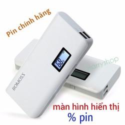 Pin sạc dự phòng Romoss Sense 4 plus 10400 mah có LCD chính hãng