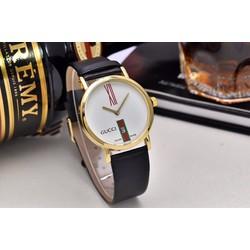 Đồng hồ Gc dây da Unisex nam nữ đeo đc