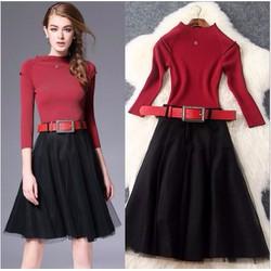 Đầm xòe Thu Đông thời trang cao cấp 2016 - T5833