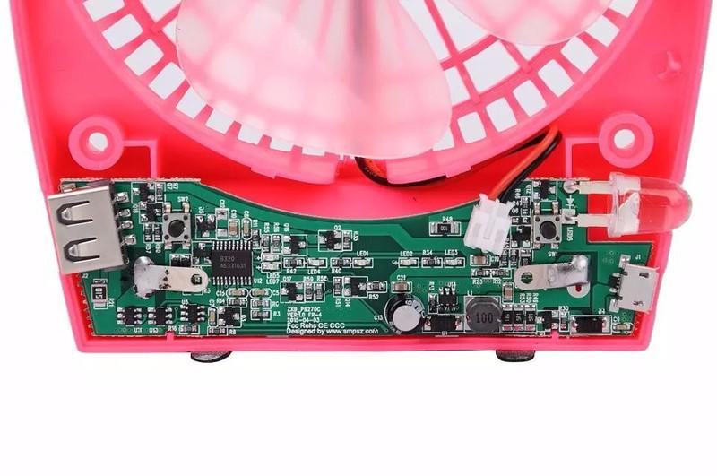 Quạt mini hadata cao cấp pin li-ion 2200mah Hồng 4