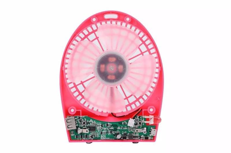 Quạt mini LED Hadata cao cấp pin li-ion 2200mah Trắng 3