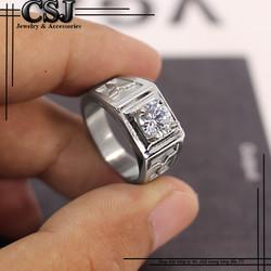 Nhẫn inox nam đẹp cao cấp giá tốt nhất HCM - mẫu N523