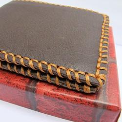 Bóp ví handmade chất liệu da bò thật dành cho nam