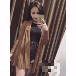 Áo khoác len form dài đuôi Quảng châu