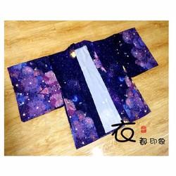 Áo choàng Haori họa tiết dễ thương phong cách thời trang Nhật Bản