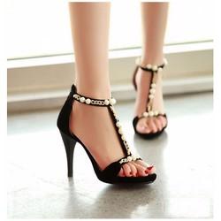 Giày cao gót đính ngọc trai - CG5911
