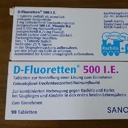 D-Fluoretten 500 I.E của Đức