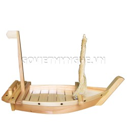 Thuyền gỗ SUSHI Nhật Bản 50cm Gỗ Tự Nhiên