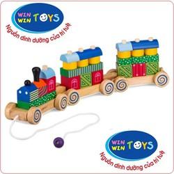 Đồ chơi gỗ xe lửa hoa văn Winwintoys