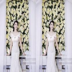 Đầm maxi cô dâu ren trắng xinh đẹp lộng lẫy và sang trọng DDH173