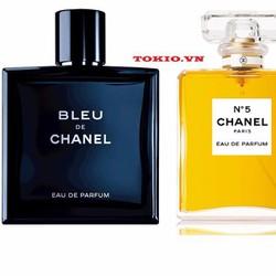 Bộ Nước Hoa Nam Nữ Chanel Bleu + Chanel No.5