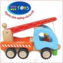 Đồ chơi gỗ xe cần cẩu Winwintoys