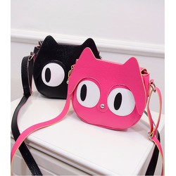 Túi đeo chéo nữ hình mèo mắt to ngộ nghĩnh