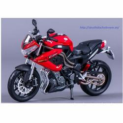 Xe mô hình mô tô BENELLI TORNADO NAKED TRE R160 màu đỏ tỷ lệ 1:12