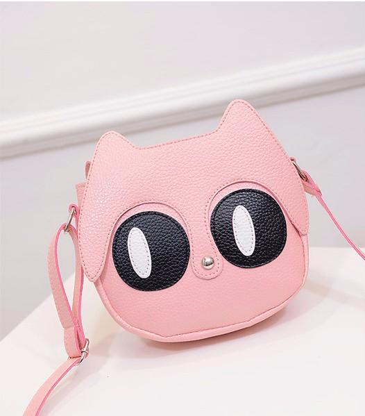 Túi đeo chéo nữ hình mèo mắt to ngộ nghĩnh 6