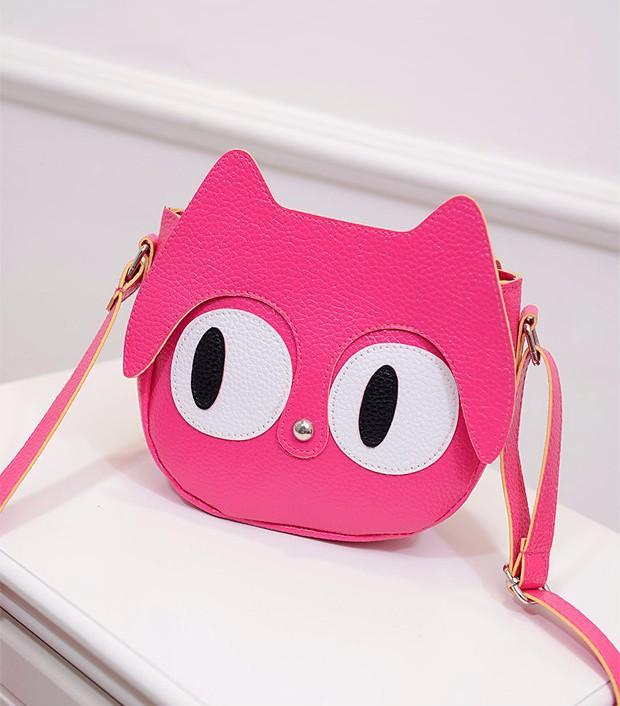 Túi đeo chéo nữ hình mèo mắt to ngộ nghĩnh 5