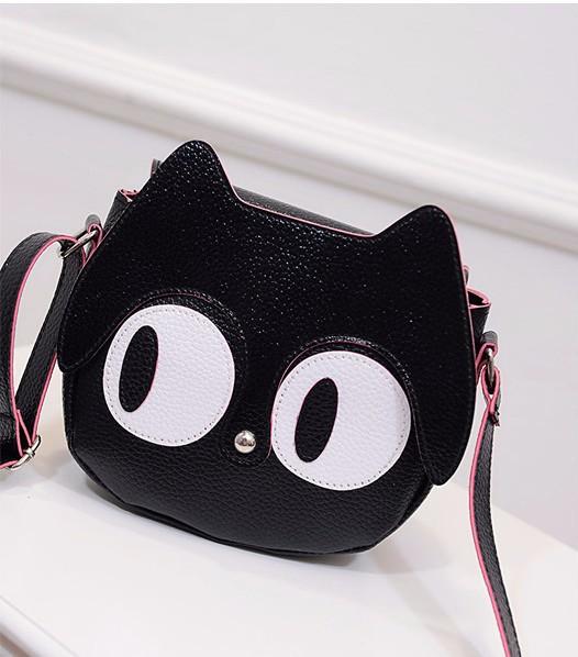 Túi đeo chéo nữ hình mèo mắt to ngộ nghĩnh 3