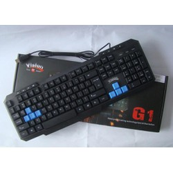 Bàn phím Vision G1 - USB-chuyên game.Chữ khắc laser.