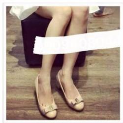 giày búp bê đính nơ tag sắt