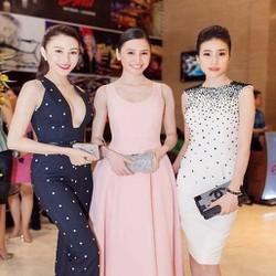Đầm xòe hồng pastel đẹp thiết kế dài qua gối sang trọng DXV48