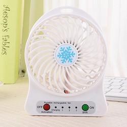 Quạt 3 cấp độ pin sạc Li-ion 1200 mini fan Phụ kiện cho bạn Trắng
