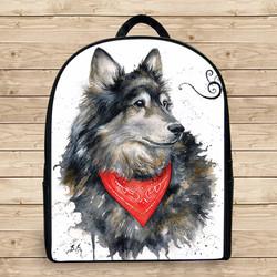Balo hình thú chó sói đẹp k3 - Size Nhỏ