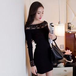 Đầm Tay Dài Phối Ren Sang Trọng