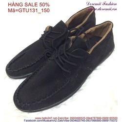 Sale off giày thể thao nữ cổ thấp màu đen sành điệu GTU131