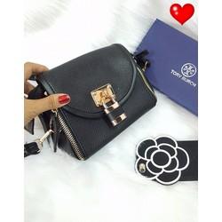 Túi xách đen đeo chéo kiểu ổ khoá - G00626