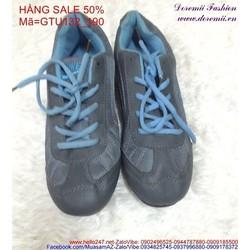 Sale off  giày thể thao nữ cổ thấp màu xanh trẻ trung GTU132