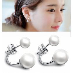 Bông tai Ngọc Trai trang nhã, xinh xắn BT17 - Màu bạc