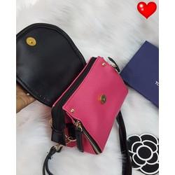 Túi xách hồng đeo chéo kiểu ổ khoá - G00624