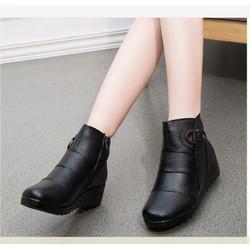 Giày boot nữ khóa kéo phong cách Hàn Quốc B043D