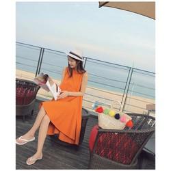 Đầm oversize lai bèo - Có 2 màu lựa chọn