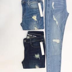 Skinny thêu Skinzee chất jeans dầy mịn co giãn